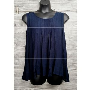 LARGE PAPA VANCOUVER, NAVY BLUE FLOWY NWT